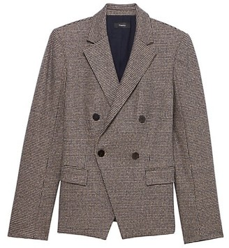 Theory Double-Breasted Angled Blazer