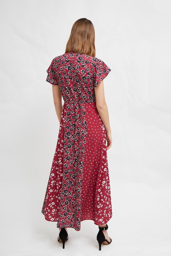 French Connection Aliyah Crepe Floral Maxi Dress