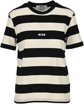MSGM Micro Logo Striped T-Shirt