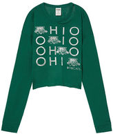 PINK Ohio University Long Sleeve Campus Cutout Tee