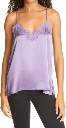CAMI NYC Thistle Silk Charmeuse Racer Camisole