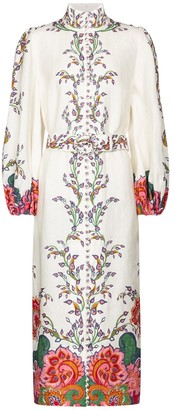 Zimmermann Lovestruck printed linen midi dress