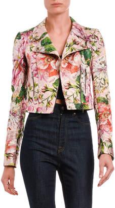 Dolce & Gabbana Floral Brocade Bomber Jacket