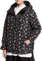 Moncler Mirtus Floral Hooded Combo Jacket