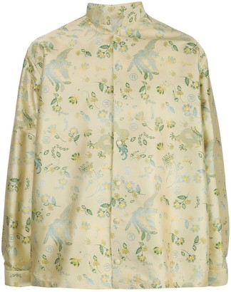Martine Rose Floral-Pattern Long-Sleeve Shirt