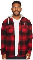 DC Runnel Flannel Long Sleeve Hooded Shirt Men's Clothing