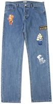 Kenzo Light Blue Denim Jeans With Patches