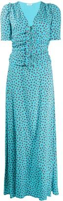 P.A.R.O.S.H. Ruffled Heart-Print Maxi Dress