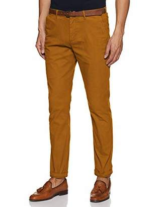 Scotch & Soda Men's AMS Blauw Stuart Chino in Peached Twill with Belt Trouser,W31/L32 (Manufacturer Size: 31/32)