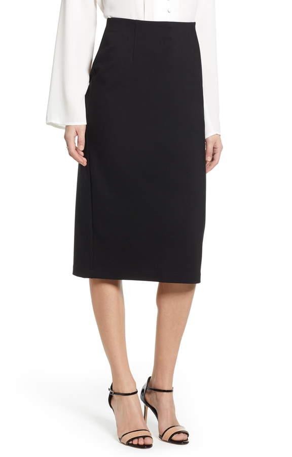 f3c3fe34c Black Ponte Skirt - ShopStyle