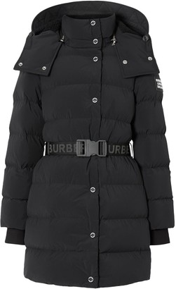 Burberry Logo Belted Puffer Jacket