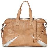 Pieces JACE LEATHER TRAVEL BAG COGNAC / Silver
