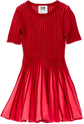 Milly Contrast Godet Flare Dress