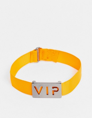 WFTW bracelet in orange cord with VIP tag