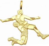 FindingKing 14K Gold Wrestlers Charm Wrestling DC Jewelry 24.5mm