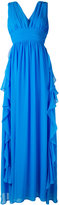 MSGM frill plunge gown - women - Cotton - 40