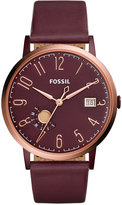 Fossil Women's Vintage Muse Red Leather Strap Watch 40mm ES4108