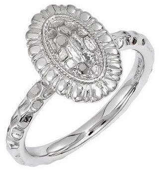 Simply Stacks Sterling Choice of Oval TexturedRing