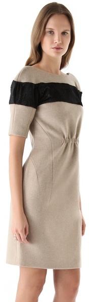 Thakoon Haircalf Stripe Dress with Open Back