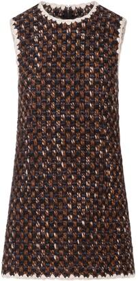Dolce & Gabbana Contrasting-Edges Short Tweed Dress