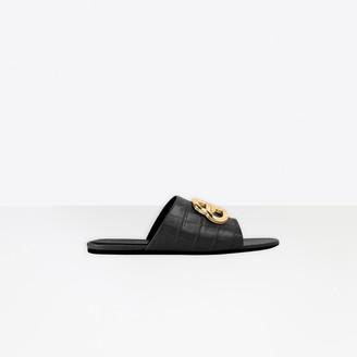 Balenciaga Oval BB Slide Sandal