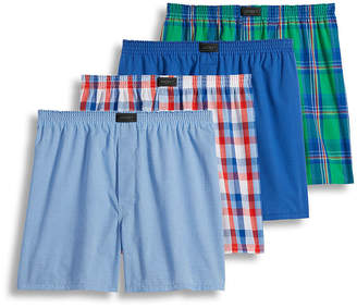 Jockey 4 Pair ActiveBlend Woven Boxers - Men's