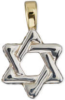 David Yurman Men's Sterling Silver & 18K Gold Cable Star of David Enhancer