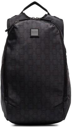 HUGO BOSS Pixel logo pattern backpack