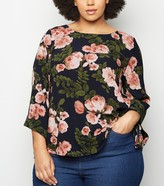 New Look Mela Curves Floral Blouse