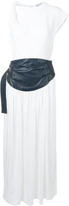 CHRISTOPHER ESBER Twist Shoulder Cummerbund dress