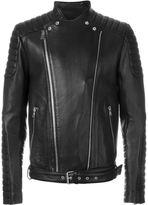 Balmain biker jacket - men - Cotton/Lamb Skin - 50