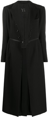 Y's Zip-Around Tailored Coat