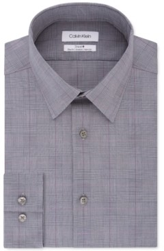 Calvin Klein Men's Slim-Fit Stretch Performance Plaid Dress Shirt