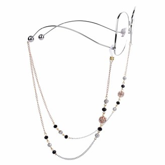 Mini Tree Fashion Reading Glasses Chain Spectacle Cord Chains for Women Beads Eyeglass Strap Neck Cord (Gold)