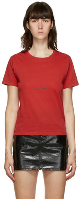 Saint Laurent Red Logo T-Shirt
