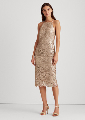 Ralph Lauren Sequined Lace Dress