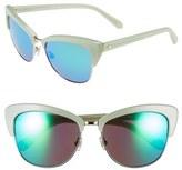 Kate Spade Women's 'Genette' 56Mm Cat Eye Sunglasses - Mint