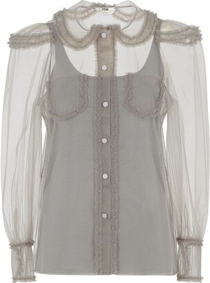 Fendi Ruffled Detail Shirt