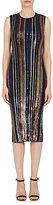 Nina Ricci Women's Sequined Sleeveless Sheath Dress-Navy