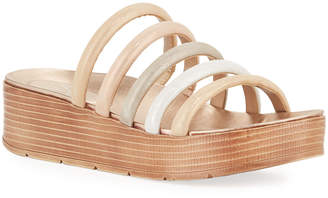 Pelle Moda Fanny Multicolored Cage Platform Sandals