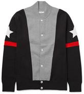 Givenchy Slim-fit Appliquéd Colour-block Stretch Cotton-blend Bomber Jacket