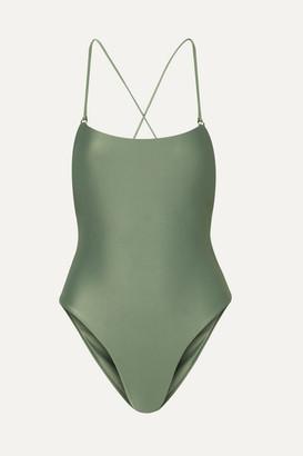 JADE SWIM Tether Swimsuit - Army green