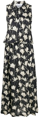 Societe Anonyme Floral-Print Dropped-Waist Dress