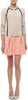 Nanette Lepore Wildcat Tribal-Print Pleated Peplum Skirt