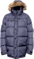 BearPaw Navy Durham Hood Puffer Coat - Men