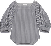 Chloé Striped Denim Top - Light denim