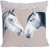 Katie & the Wolf - Horses Cushion