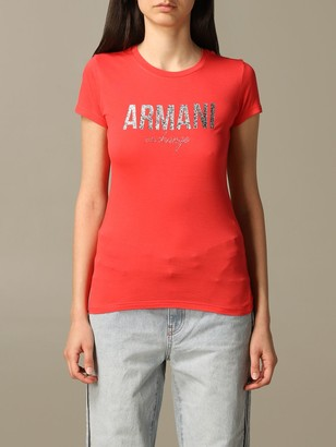 Armani Collezioni Armani Exchange T-shirt Armani Exchange T-shirt With Laminated Logo