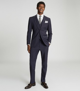 Reiss Hope - Modern Fit Travel Blazer in Navy