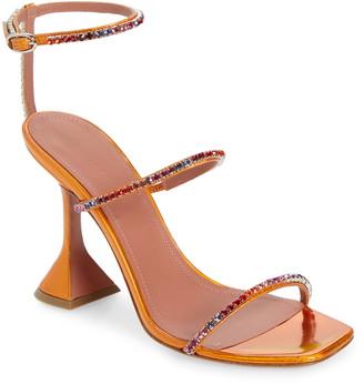 Amina Muaddi Gilda Sunset Rainbow Ankle Strap Sandal